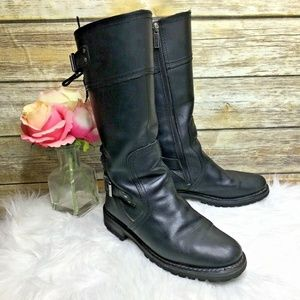 Harley Davidson Alexa Black Leather Moto Boots